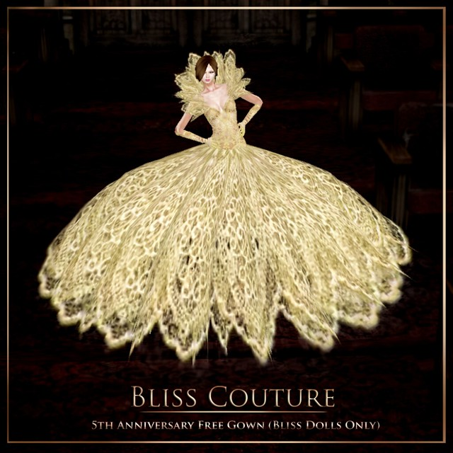 Bliss Couture 5th Anniversary Free Gown Ad