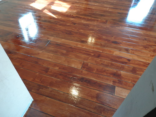 Close up of Rustic Concrete Wood Decorative Flooring - Atlanta GA