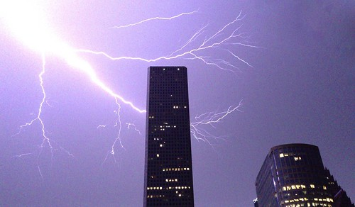 Lightning over Downtown Houston 2