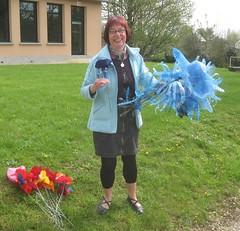 Atelier de Doudeauville, Cathy,  fleurs bleues - Photo of Mesnil-sous-Vienne