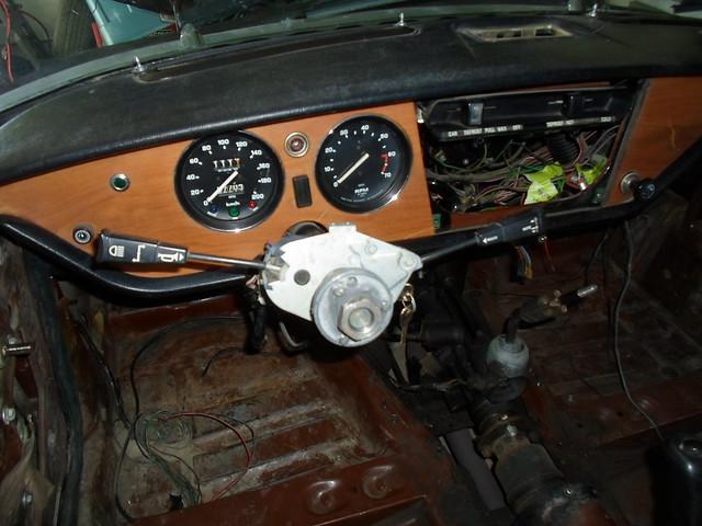 Steering wheel off