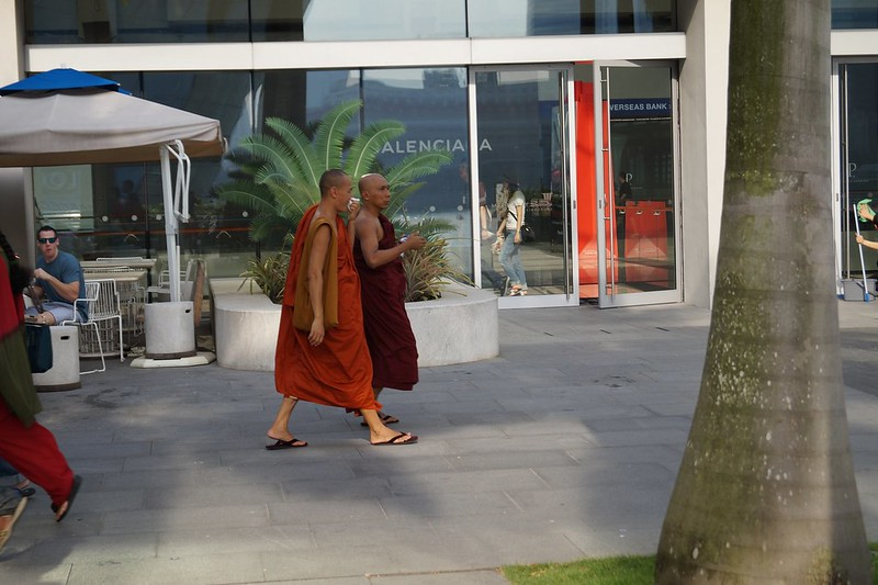Modern monks sightseeing