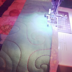 Last step and 5 quilts will be ready for donation to #TheLinusConnection tomorrow! #binding #blanketcharity