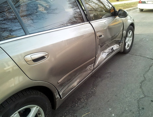 20150319 - Carolyn's car accident - enemy carbatant - (by Carolyn) - 20150319_080656