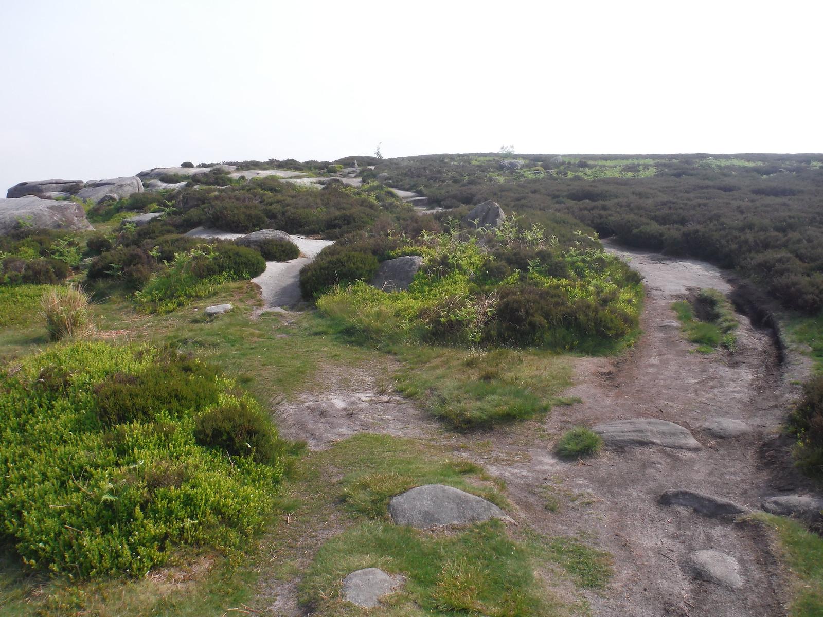 Path along Burbage Rocks SWC Walk 266 - Sheffield to Bamford (via Burbage Rocks and Stanage Edge) or to Moscar Lodge