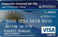 tarjeta de débito de Asignación por Hijo