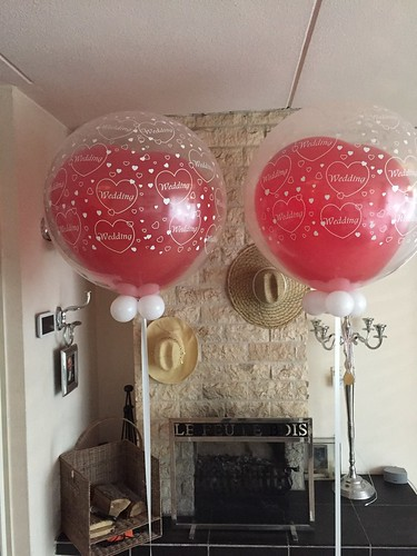 Cloudbuster Rond met Hartballon Dubbel Stuffed