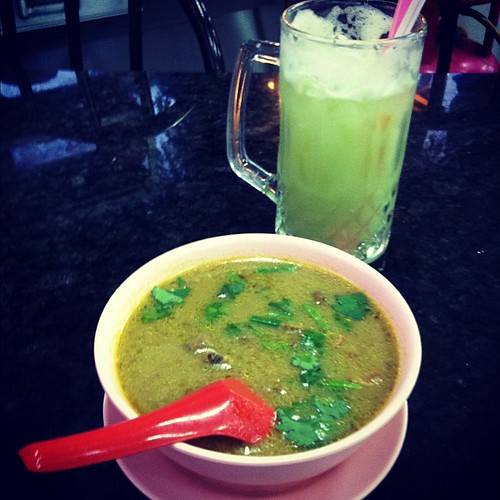 Two things that would make Thailand more delicious: sup kambing (goat soup) and star fruit juice, Kuala Lumpur.