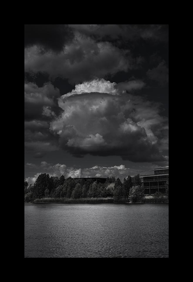 Cloudscapes: Bedfont Cumulus over Lake by Nicholas M Vivian