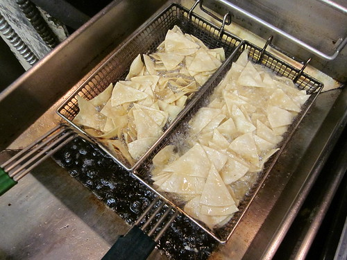 frying tortilla chips