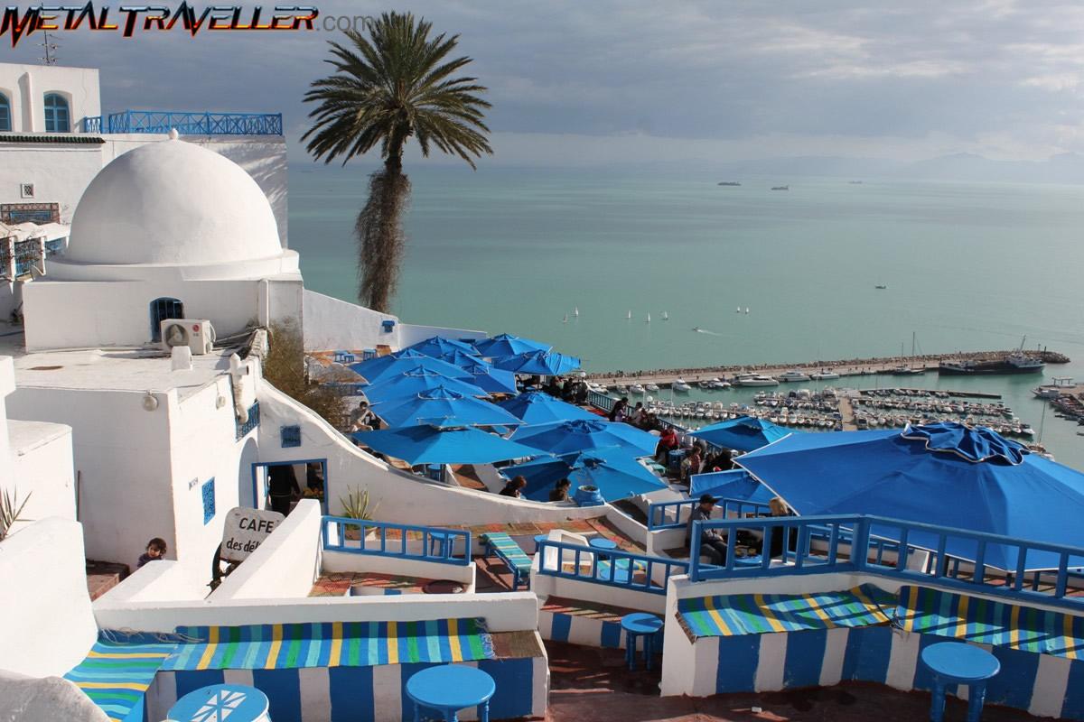 The town of sidi bou said in tunisia metal traveller for Sidi bou said restaurant
