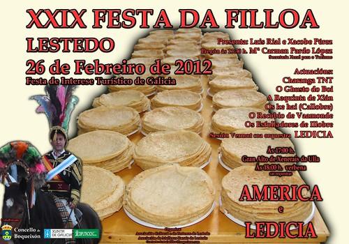 Boqueixón 2012- Festa da Filloa de Lestedo - cartel