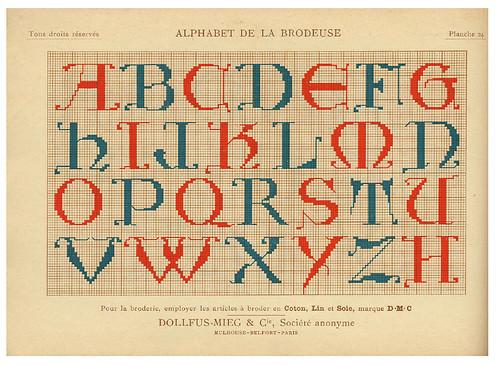 009-Alphabet de la Brodeuse1932- Thérèse de Dillmont