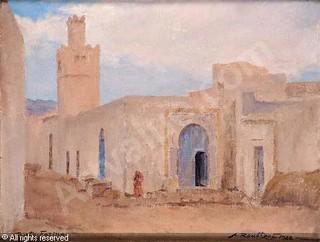 Une peinture de ROUBTZOFF Alexandre faite en 1922.