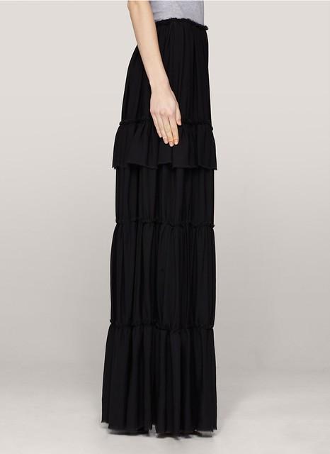 Lanvin Maxi silk skirt