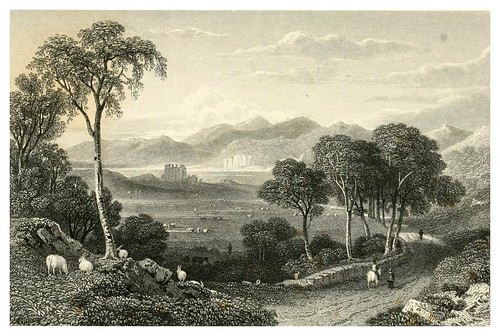 006-Dunstafnage-Legend of Montrose-Finden's landscape illustrations of the Waverley novels.. 1834-varios artistas