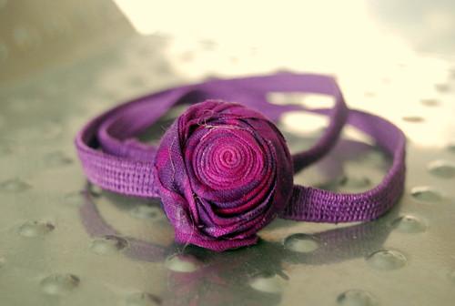 purple rosebud headband
