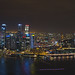 Singapore Nightscape during i Light Marina Bay