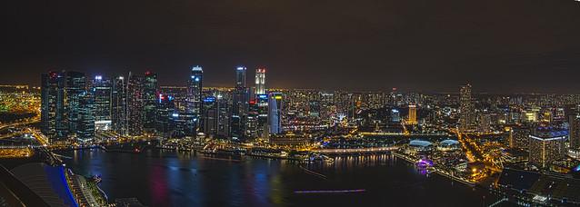 Singapore Nightscape during i Light Marina Bay