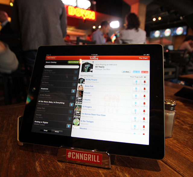 TuneTug's iPad social jukebox app