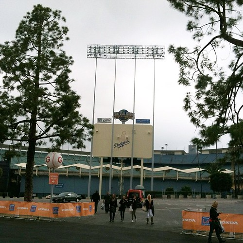 I love that the LA Marathon starts at my happy place (one of them).