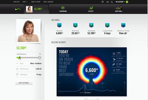 Nike+ Personal Dashboard