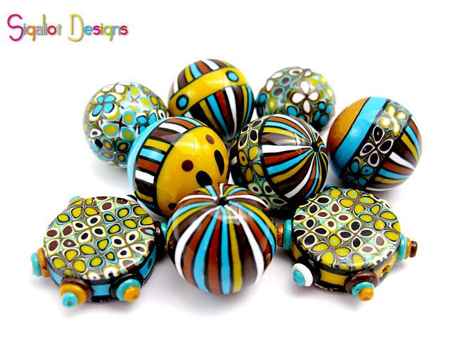 Desert Breeze mixed shape beads
