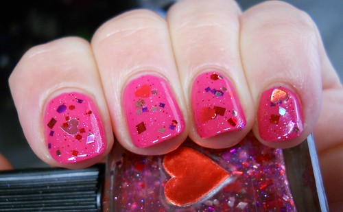 Lynnderella Liquid Valentine over Zoya Lolly