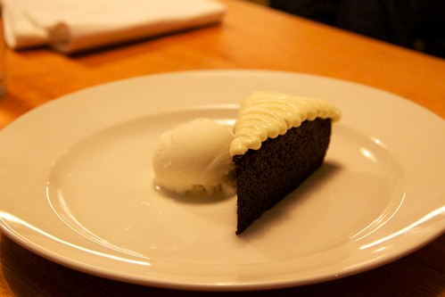 Chocolate & Guinness Cake, Milk Ice Cream