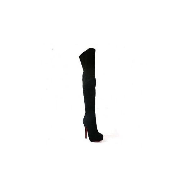 Red Bottom Platform Suede Thigh High Boots Black Red Botto Flickr