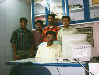 Myself, Joydeep, Manas & Subhendu (Sitting) Mr. Bose
