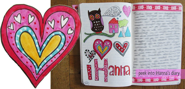 Doodle Diary + Heart