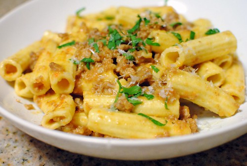 6879047675 4f5f8825d2 Fresh Rigatoni with Ragu Bolognese