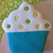 Cupcake verde serpenteado