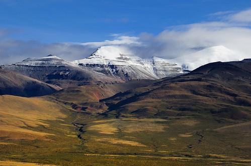 Landscape of the Gang Ti Se Mt range, Tibet by reurinkjan