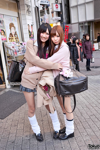 Shibuya School Girls in Loose Socks