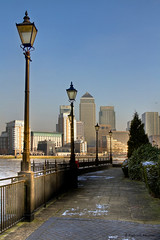 A walk along the Thames on a cold winter day.