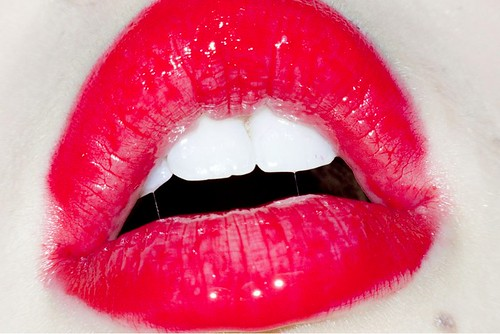 Terry Richardson, Untitled red lips, 2011
