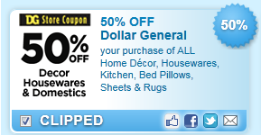 Your Purchase Of All Home Decor, Housewares, Kitchen, Bed Pillows, Sheets & Rugs Coupon