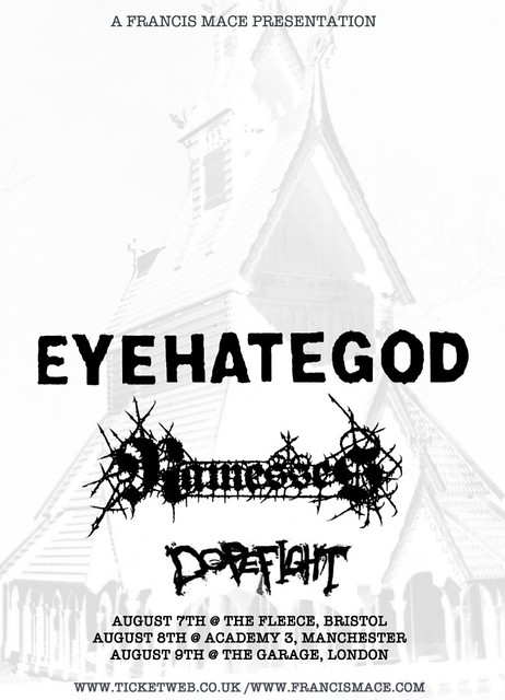 eyehategod uk tour 2012 ramesses dopefight london manchester bristol