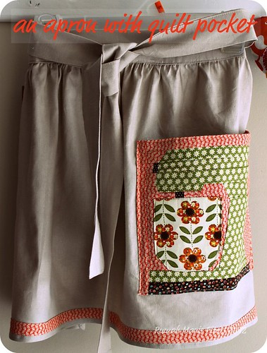 an apron with quilt pocket by Fitri D. // Rumah Manis