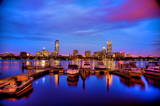 Boston Skyline on the Charles River - JoeyBLS Photography
