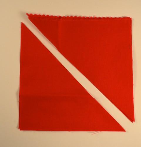 Liberated Shoo Fly, prepare the fabrics