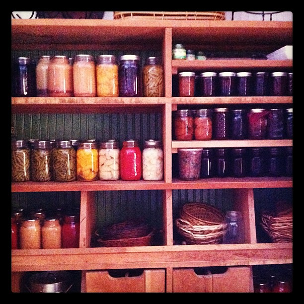 The place we're at this weekend has an amazing pantry. #food