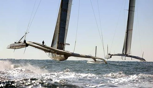 America's cup multihulls are much more efficient than any canting keel yacht.