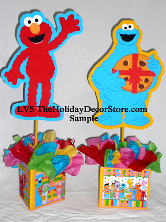 Personalized Sesame Street Birthday Party Elmo Cookie Monster