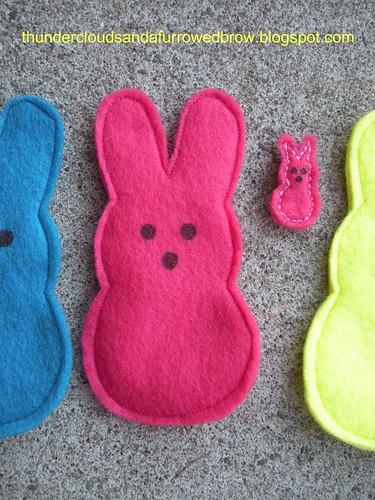 Peep Bunny Pins