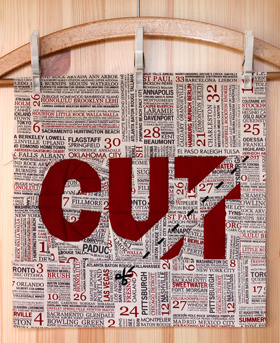 CUT - block 2 in Sew Out Loud QAL