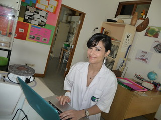 Director of Admissions Lily Just in science lab (Mae Rim, Thailand)