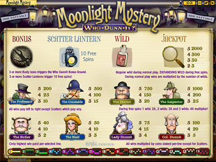Moonlight Mystery Slots Payout